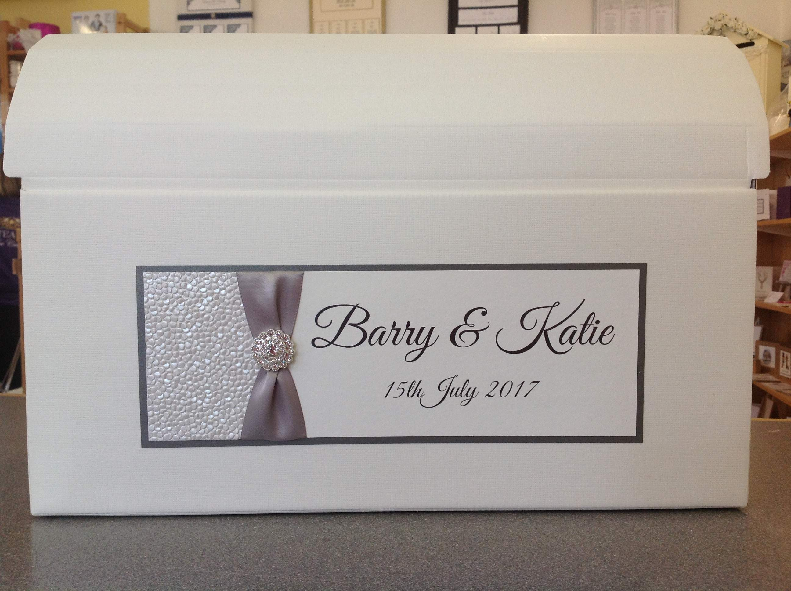 Wedding Card Post Boxes, glitter bubble ribbon