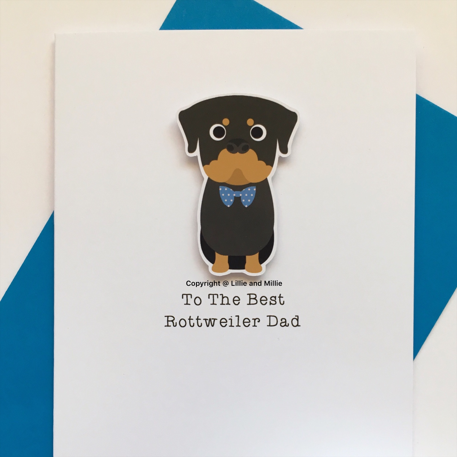 Cute and Cuddly Sitting Best Rottweiler Dad Card