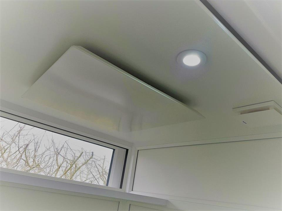 heating ceiling panel light