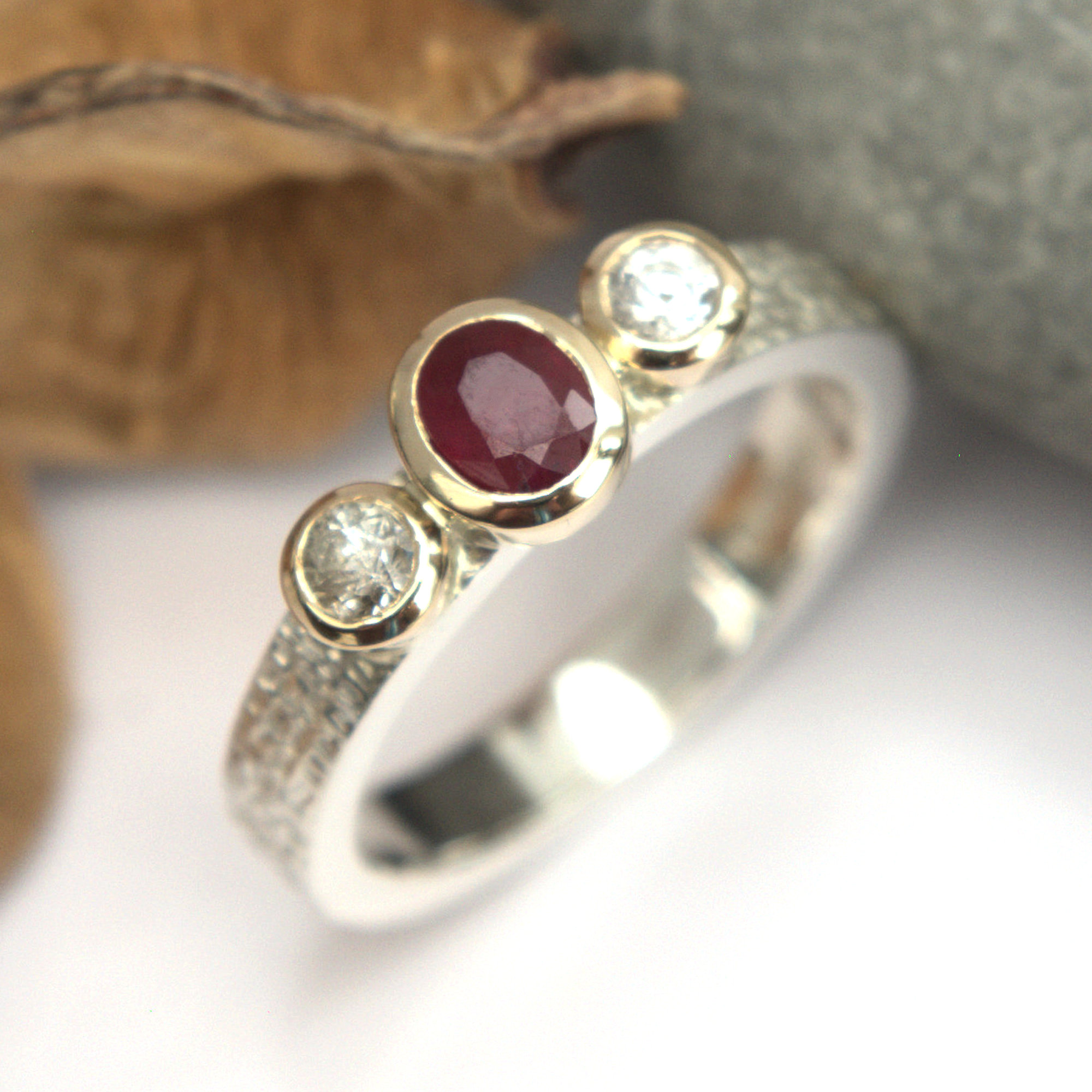 ruby and sapphire ring