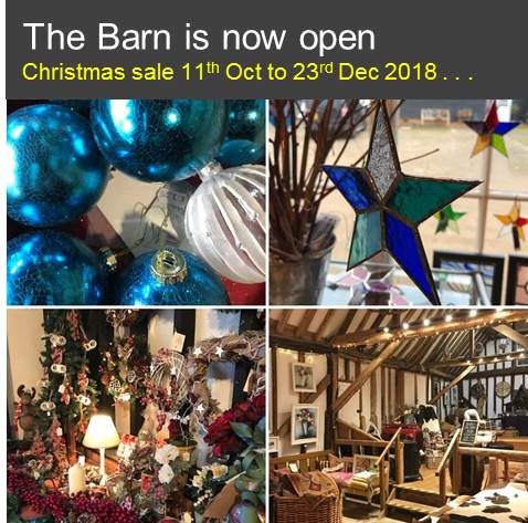 Christmas at The Barn 2018 now open . . .