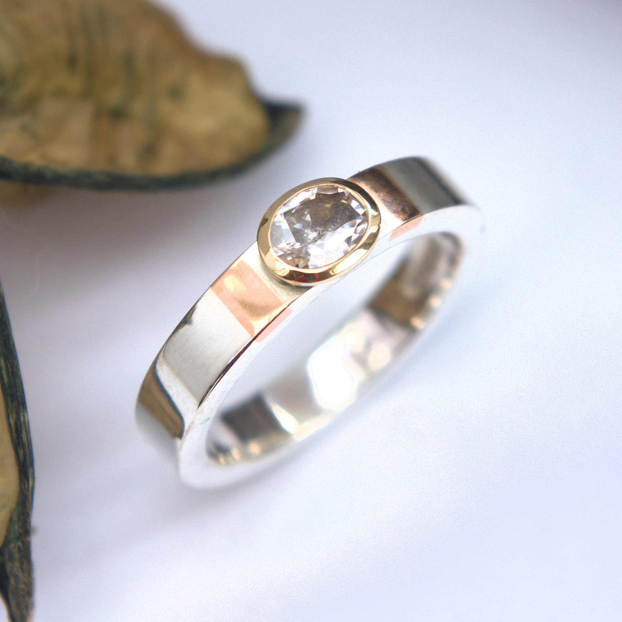 morganite oval ring