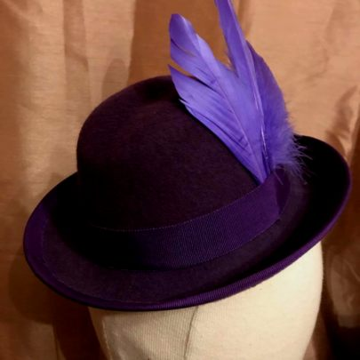Dusty Purple Homburg with feathers