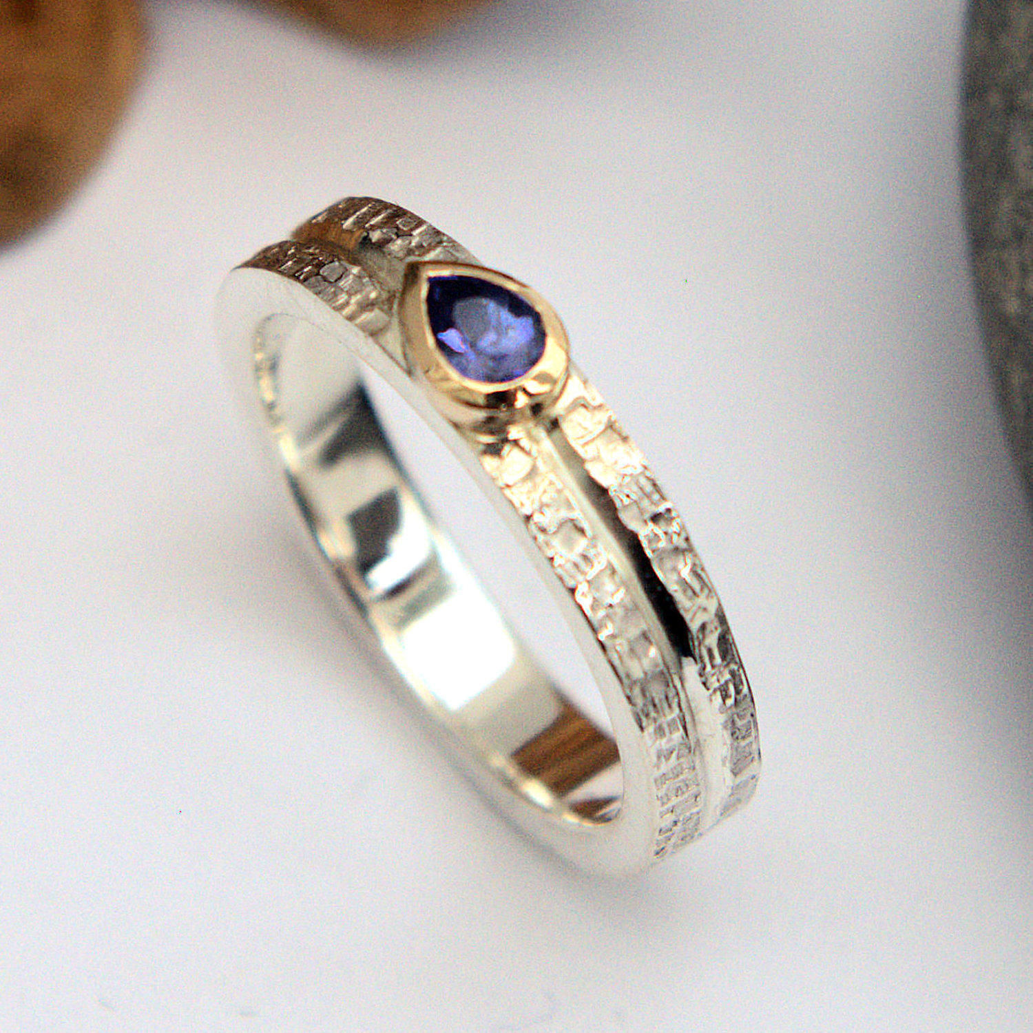 Tanzanite silver and goring