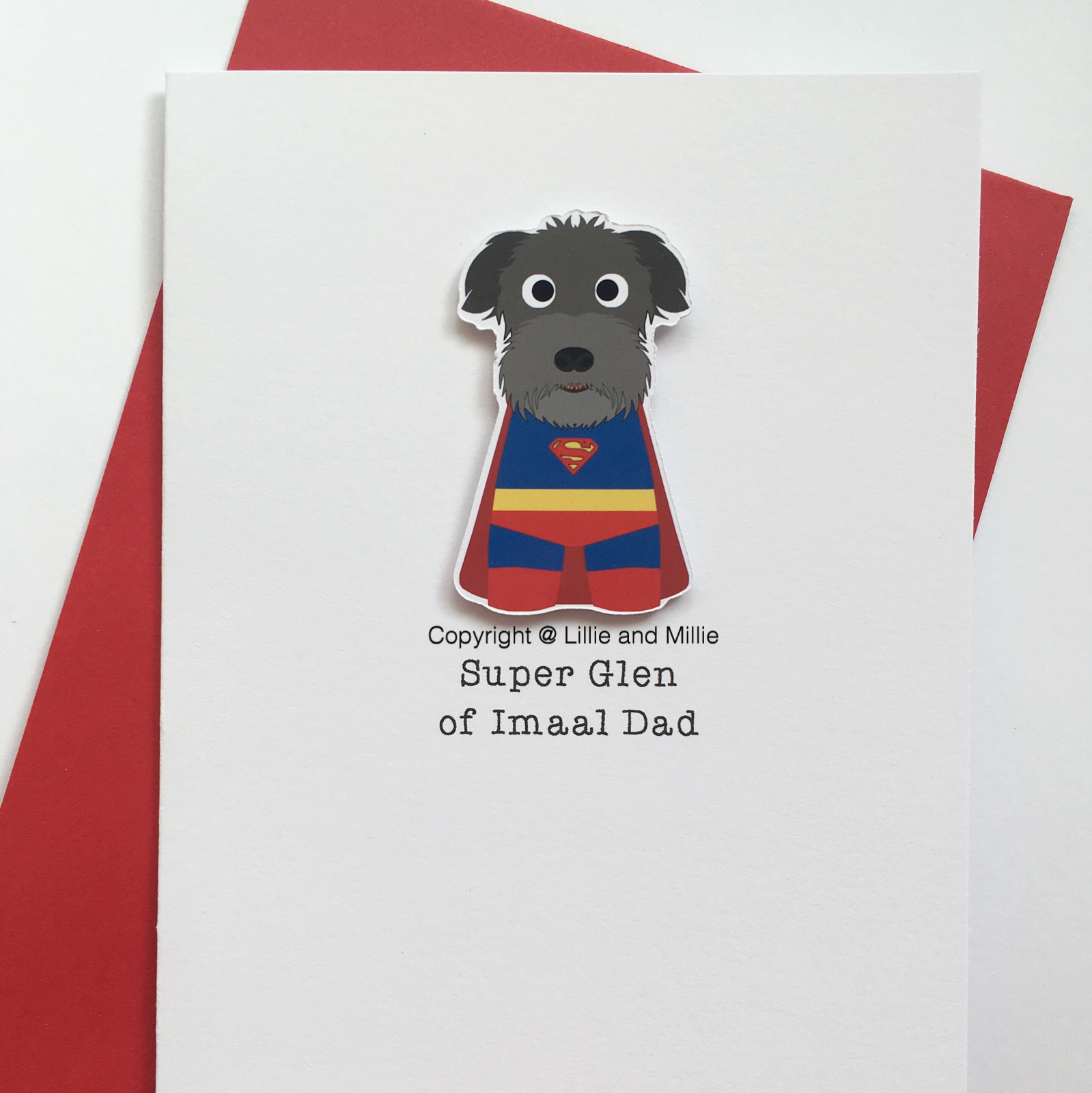 Cute and Cuddly Super Glen of Imaal Terrier Dad Card