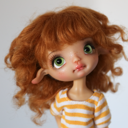 Mohair Wig Ginger  7-8