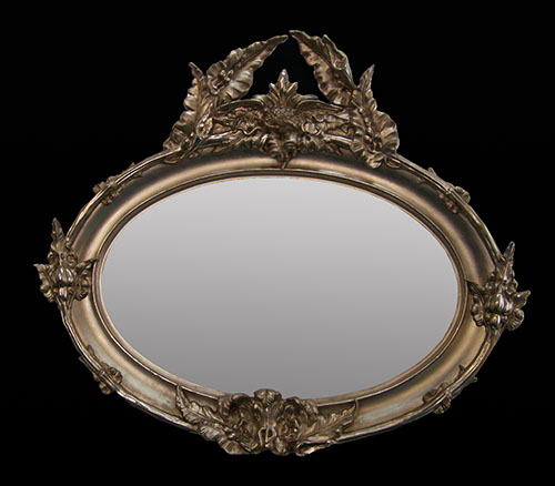 oval mirror Champagne gold