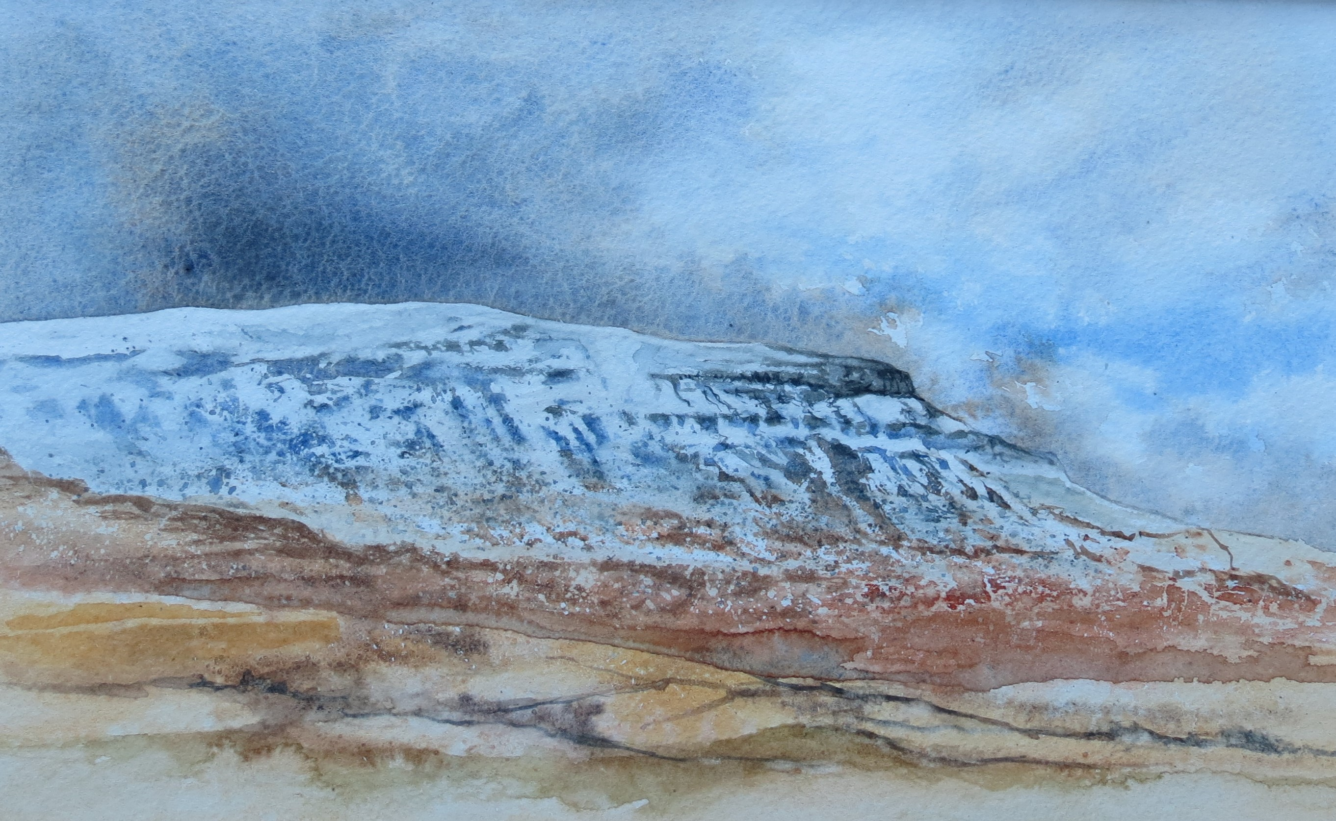 Pen-y-ghent, North Yorkshire, watercolour print by Kevin Brown