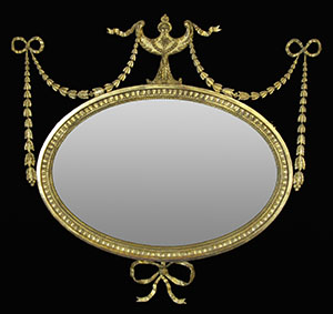 Oval mirror restored bt Ruth Tappin