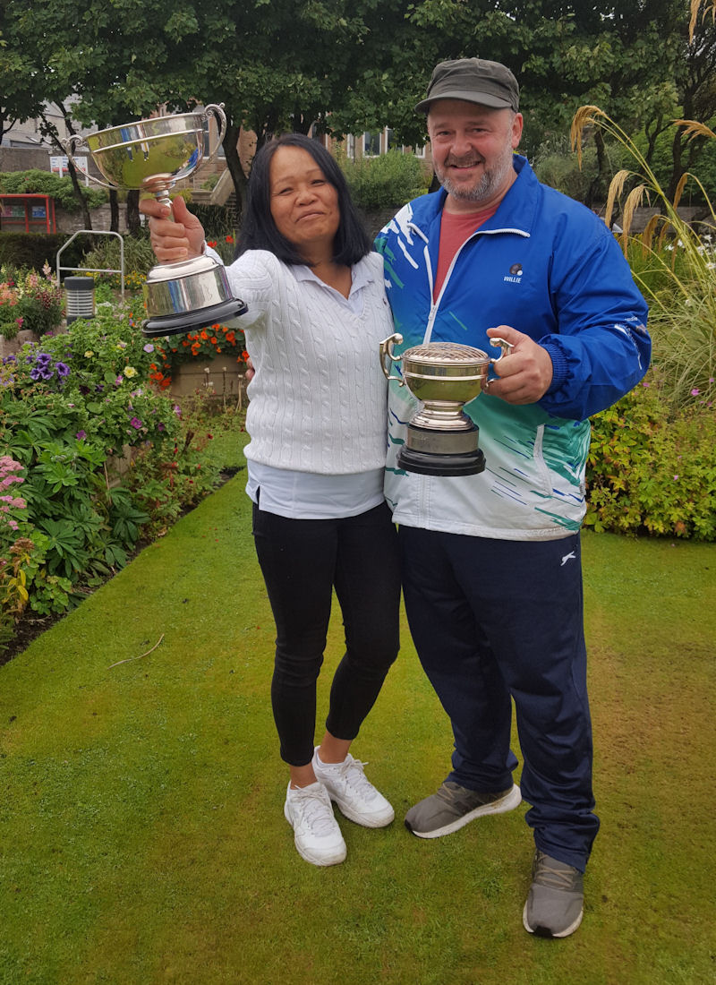 Husband and wife Willie and Wasana Coutts League Winners