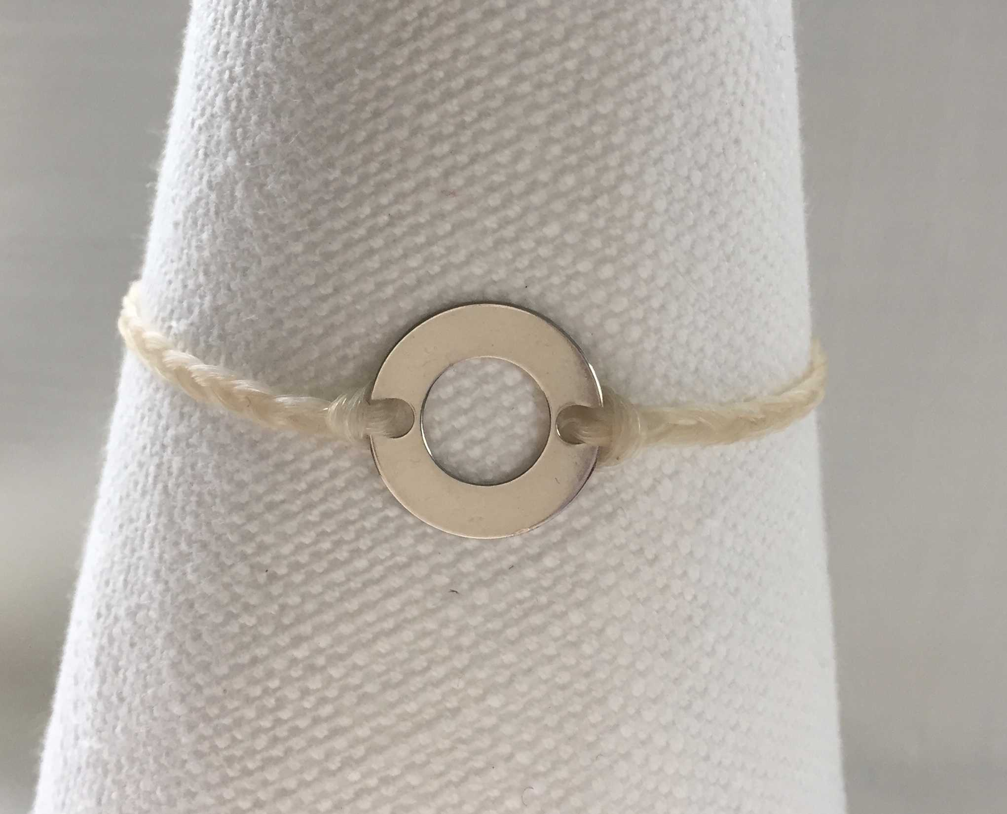 Horse Hair Bracelets with Silver Rings