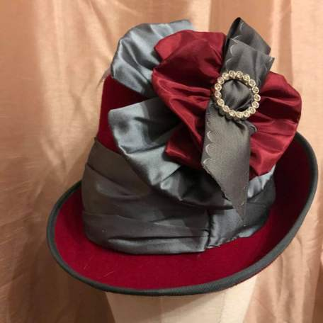 1880/90 Red Directoire Hat