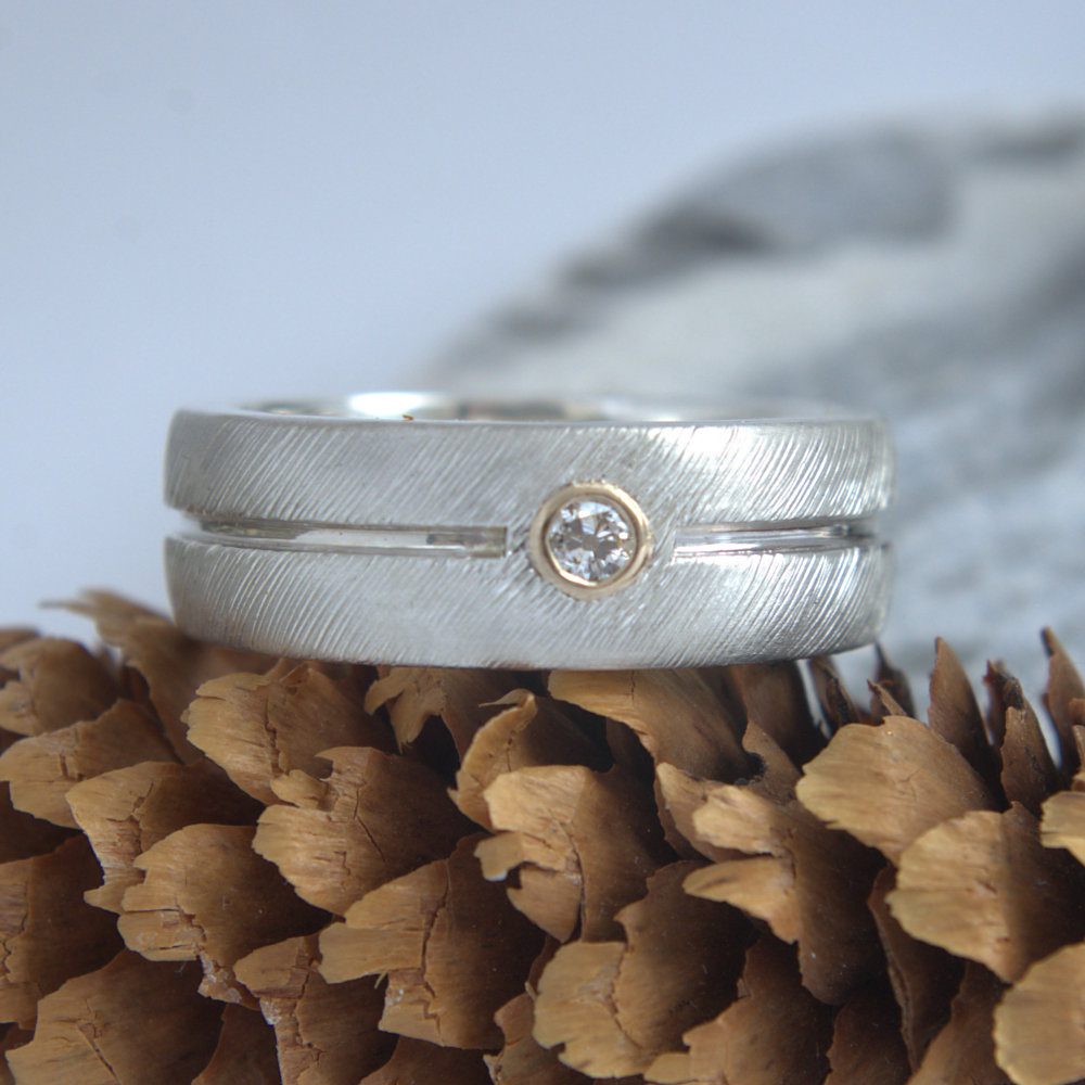 Diamond silver band