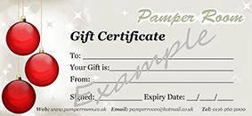 Christmas £10 Gift Certificate