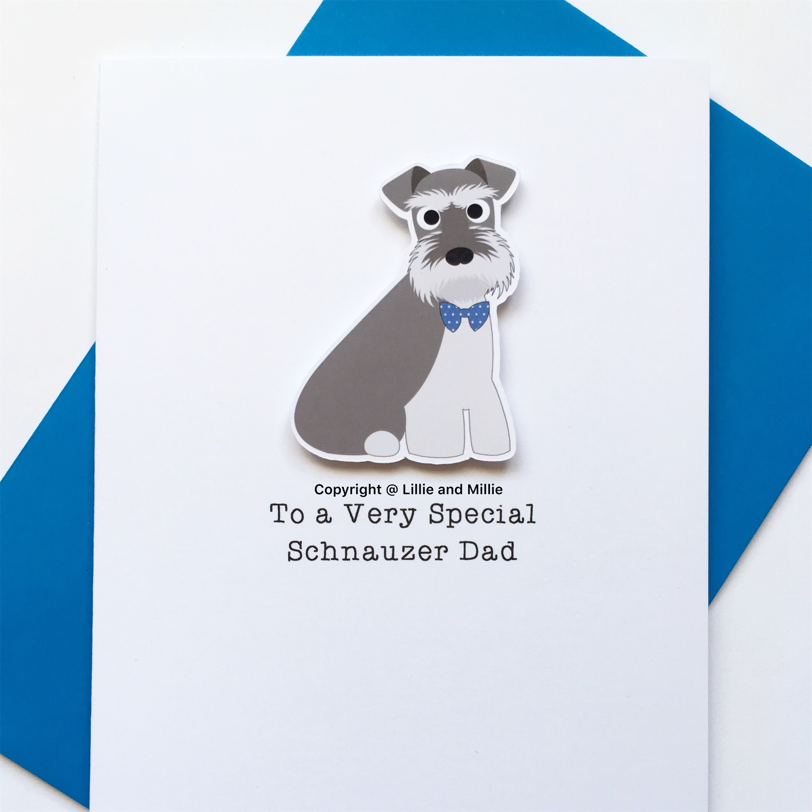 Precious Pooch To a Very Special Dad Salt and Pepper Schnauzer Card