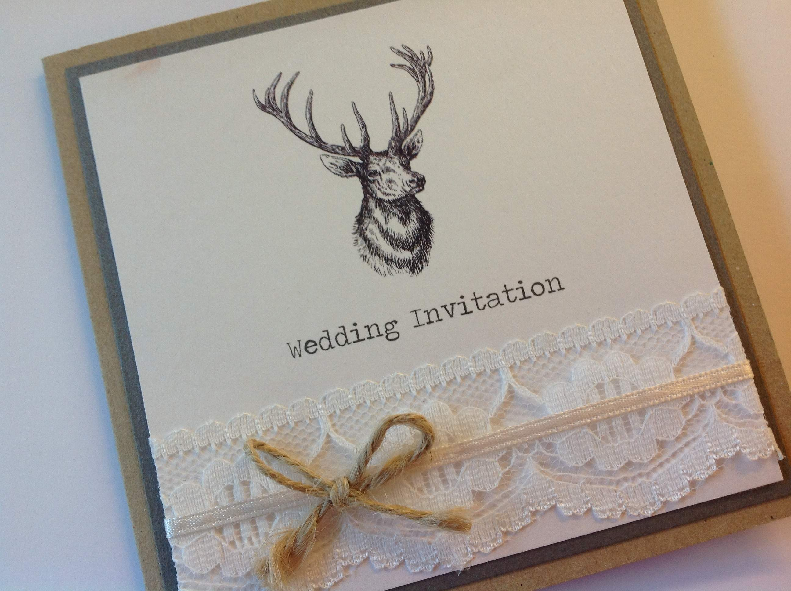 Stag Themed Invitations
