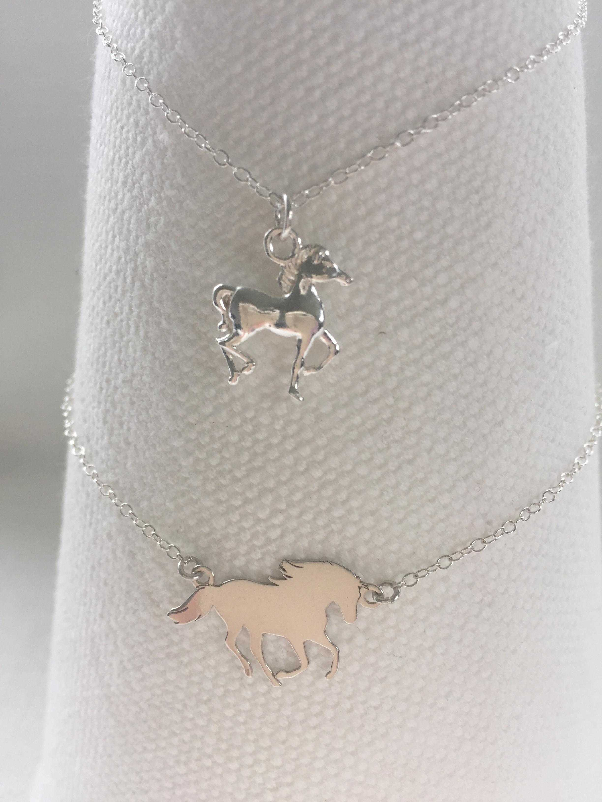 Solid Silver Horse Necklaces