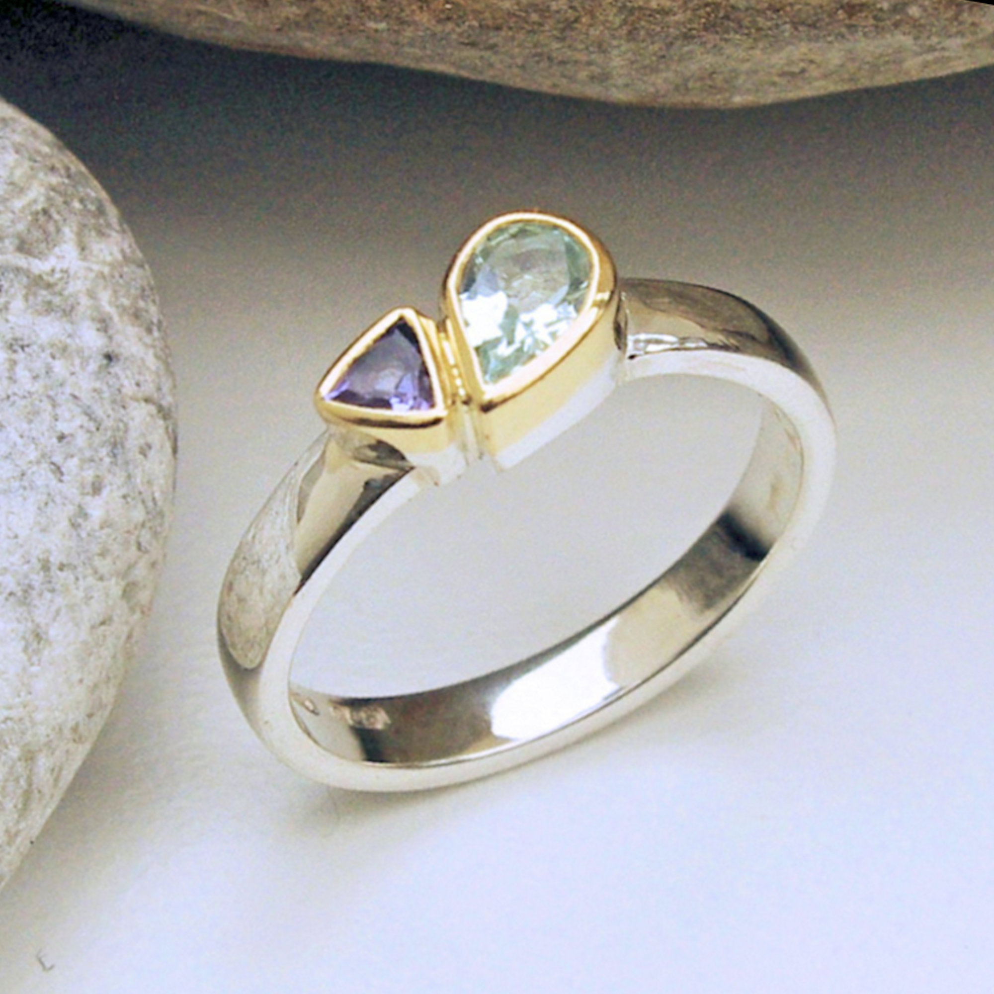 Green Beryl Tanzanite ring