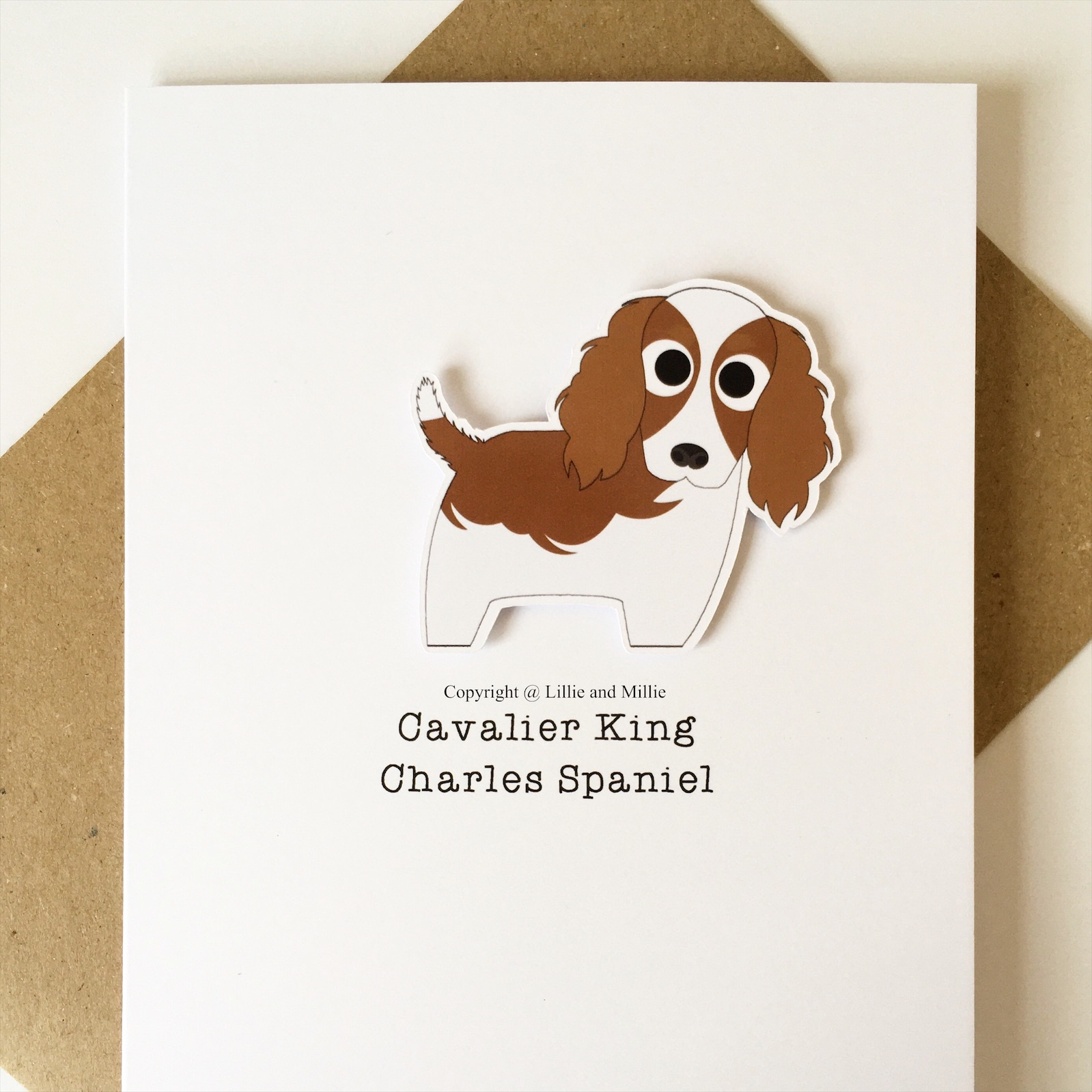 Cute and Cuddly Cavalier King Charles Spaniel Card