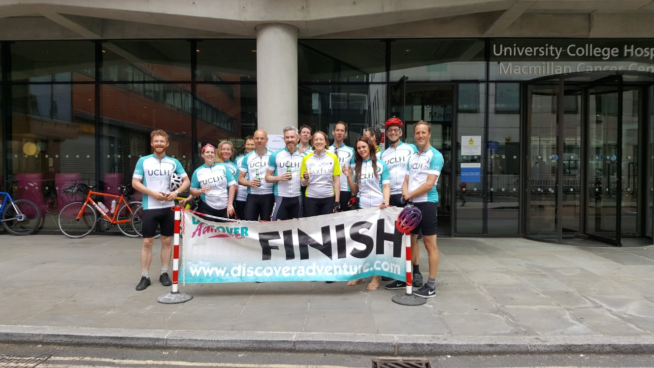 Day 2 - Finish line at the UCH Cancer Centre