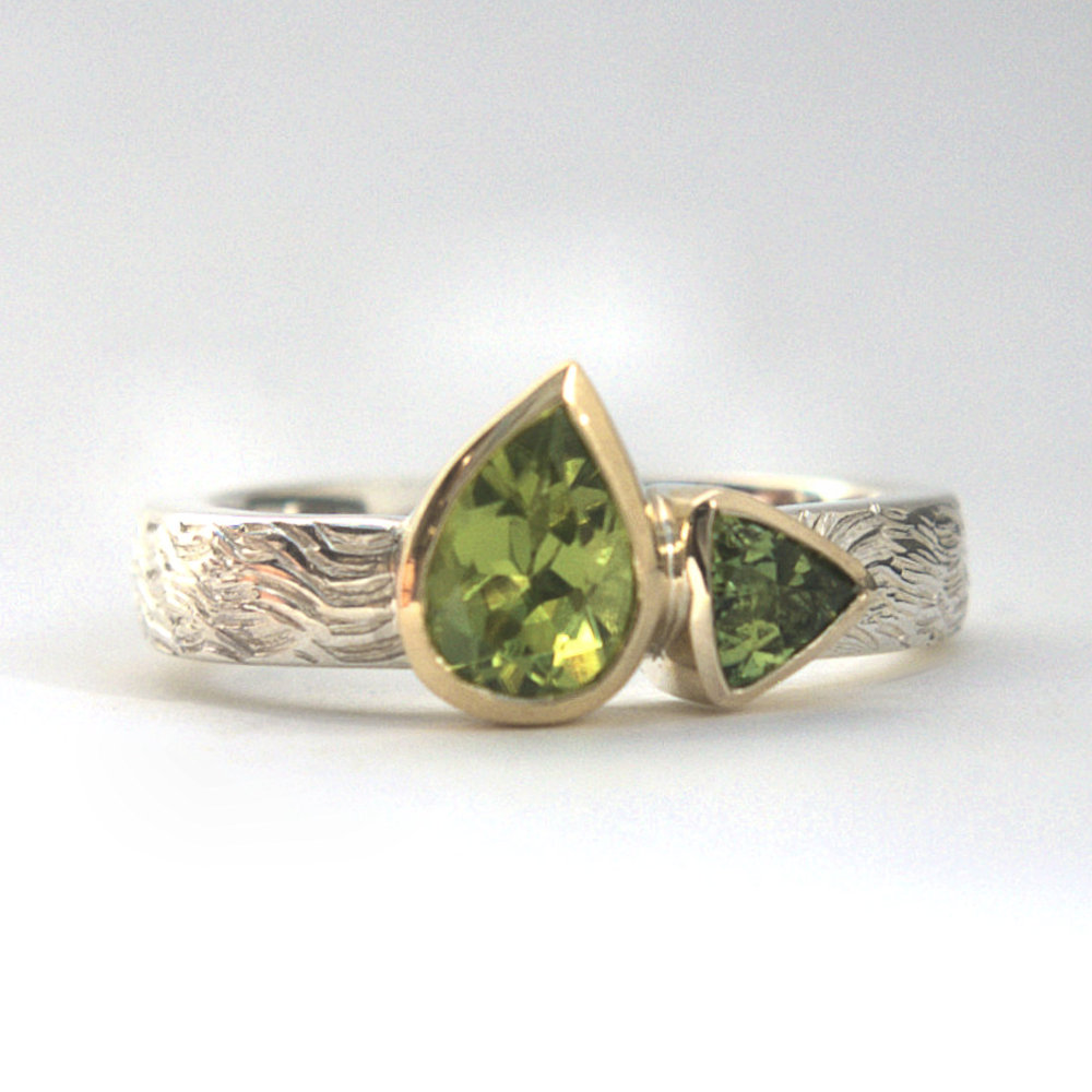 Peridot tourmaline ring