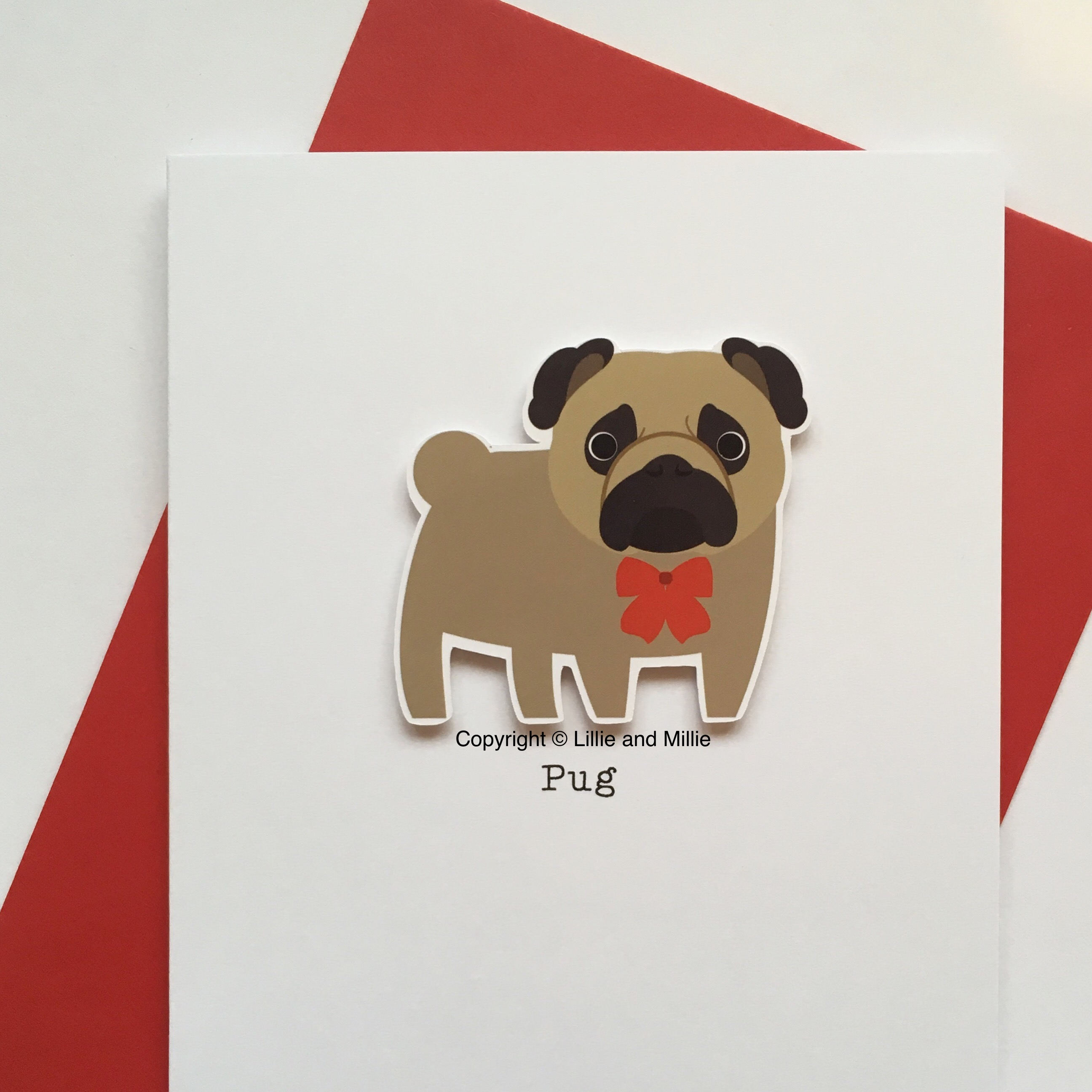 Cute and Cuddly Pug Card