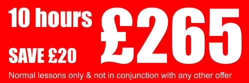 Driving Lessons 10 Hours for £210