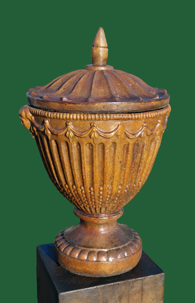 OLYMPIC URN WITH LID STONE GARDEN VASE