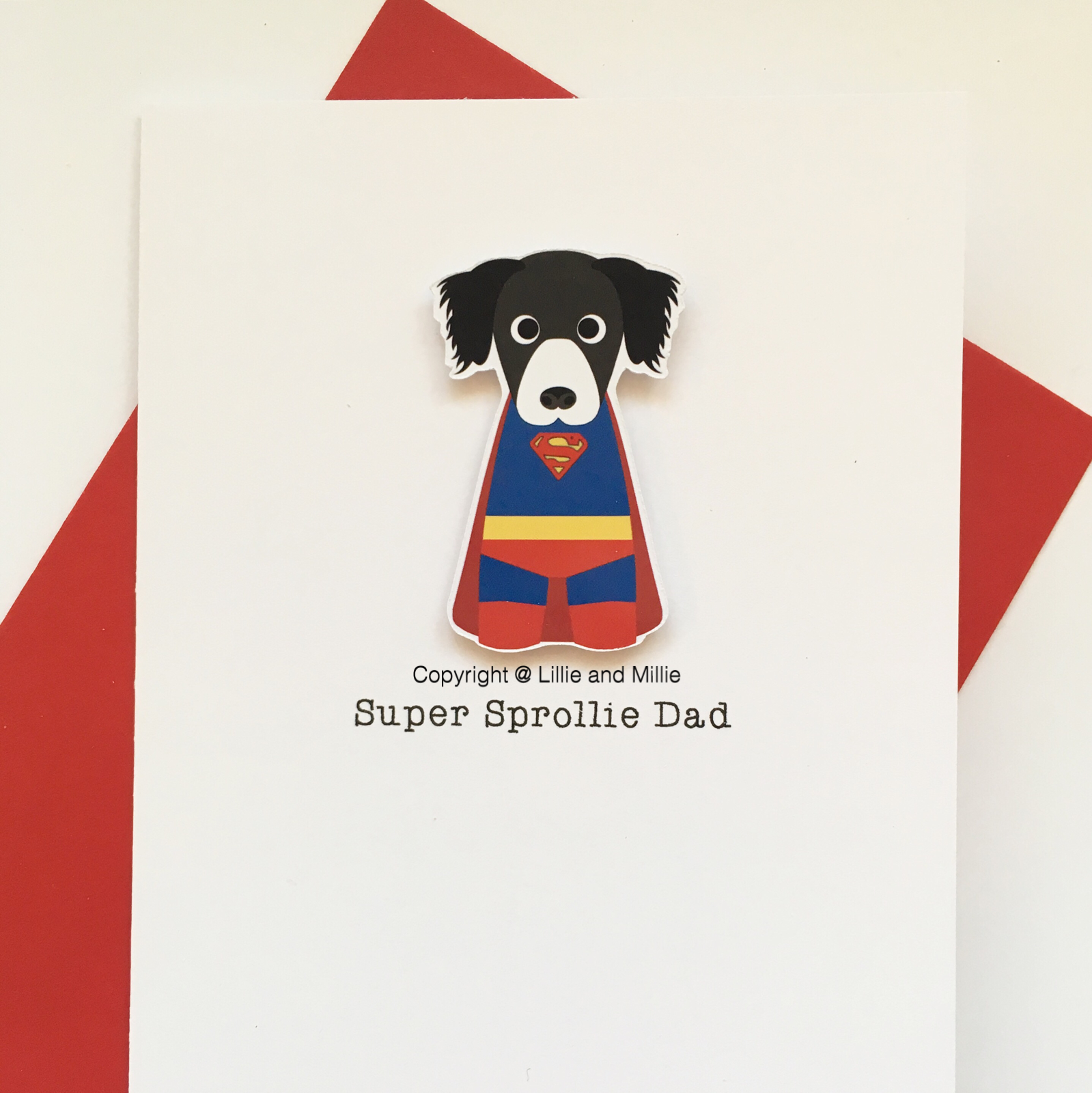 Cute and Cuddly Super Sprollie Dad Card