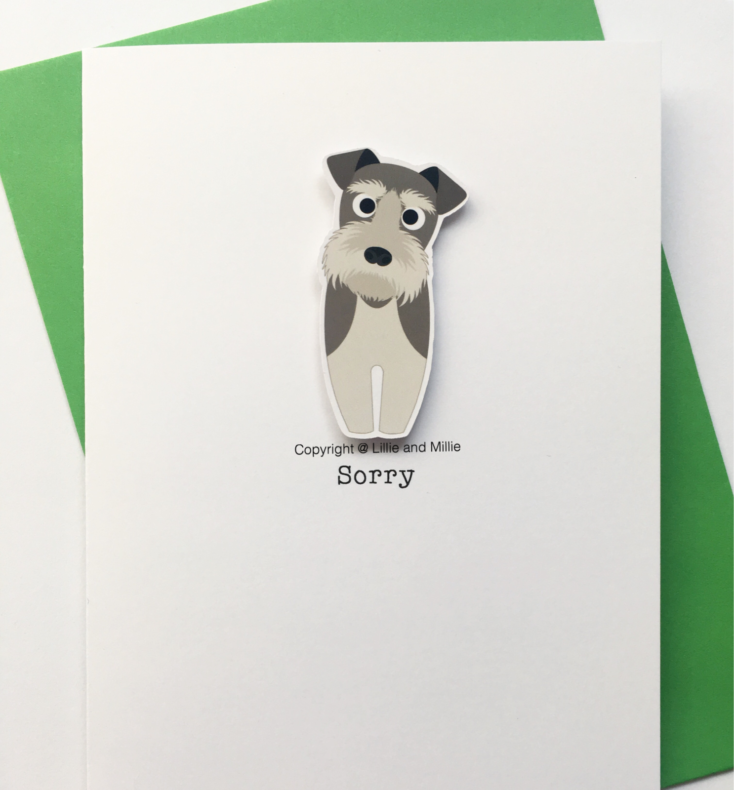 Precious Pooch Salt and Pepper Schnauzer Sorry Card