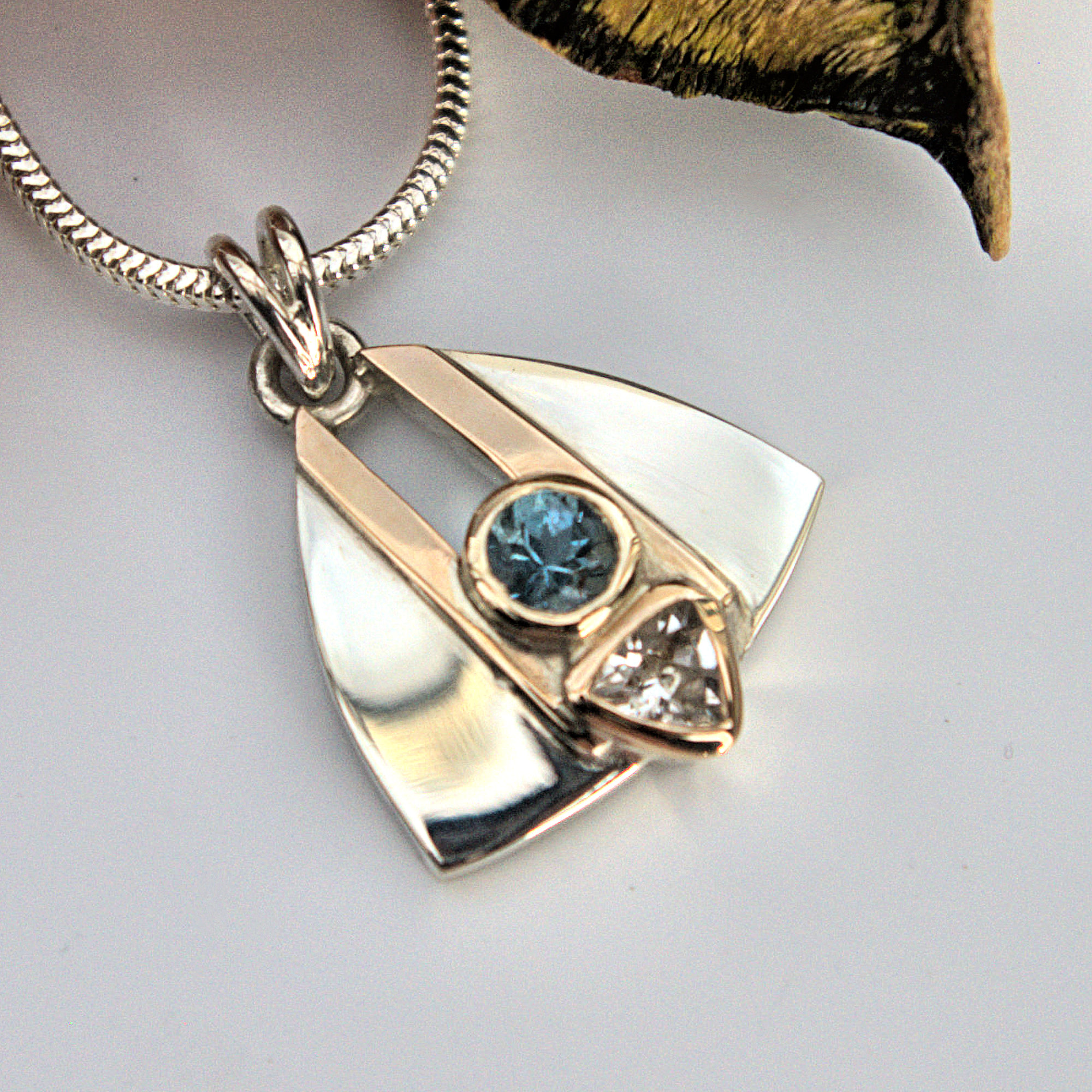 Aquamarine and Topaz pendant