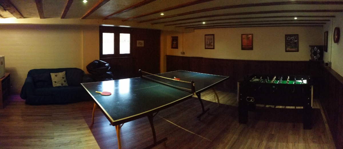 games room features table tennis