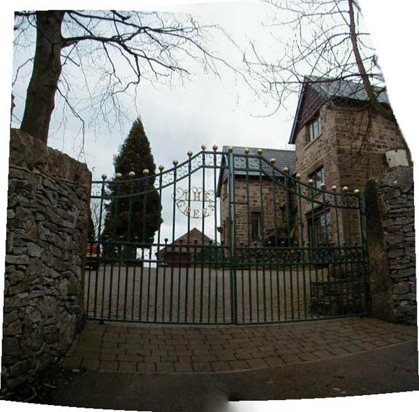 Spectacular gated drive of The Green Party House in Derbyshire