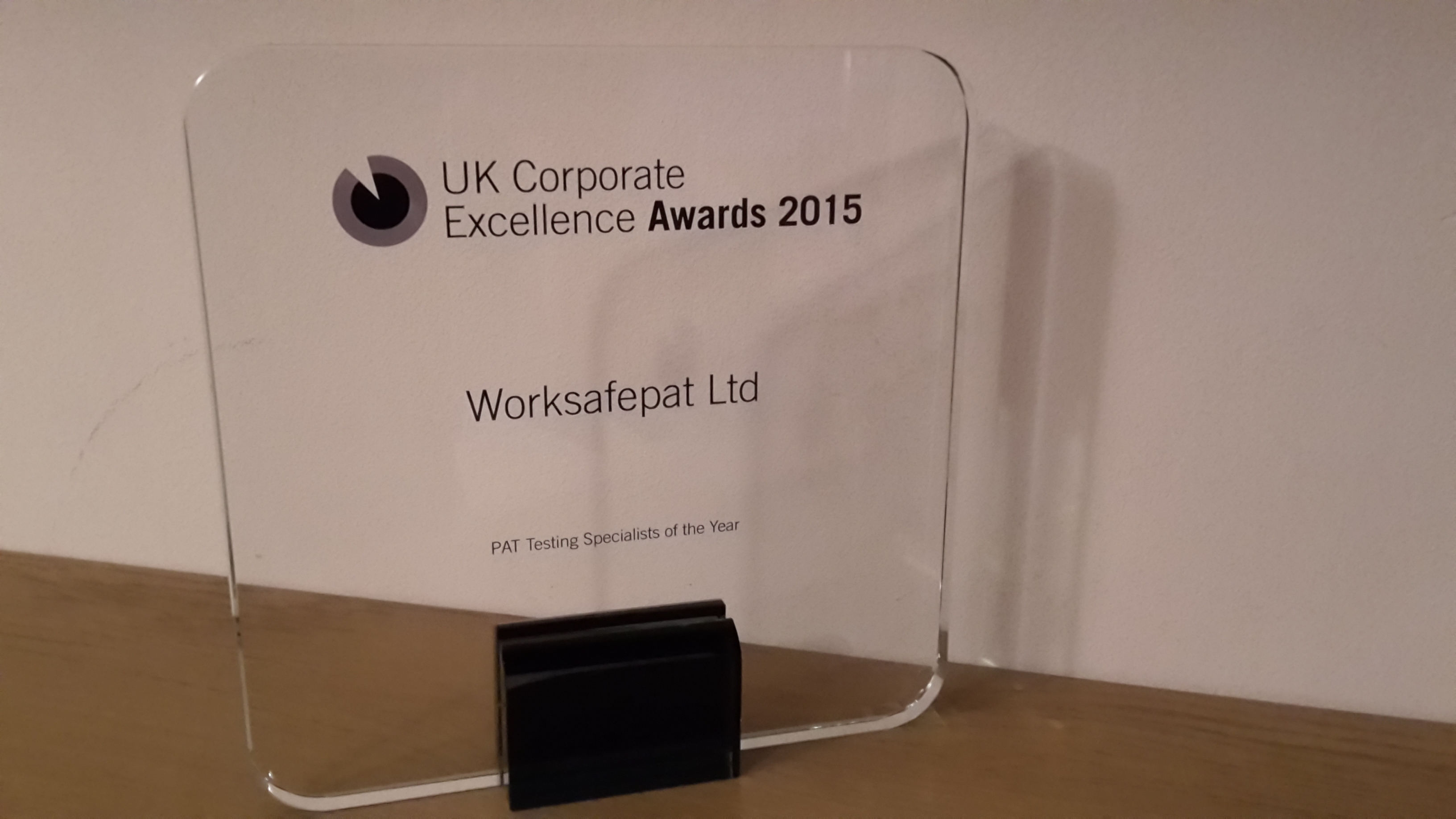 Uk Corporate Excellence Award Winners pat testing specialists of the year worksafepat