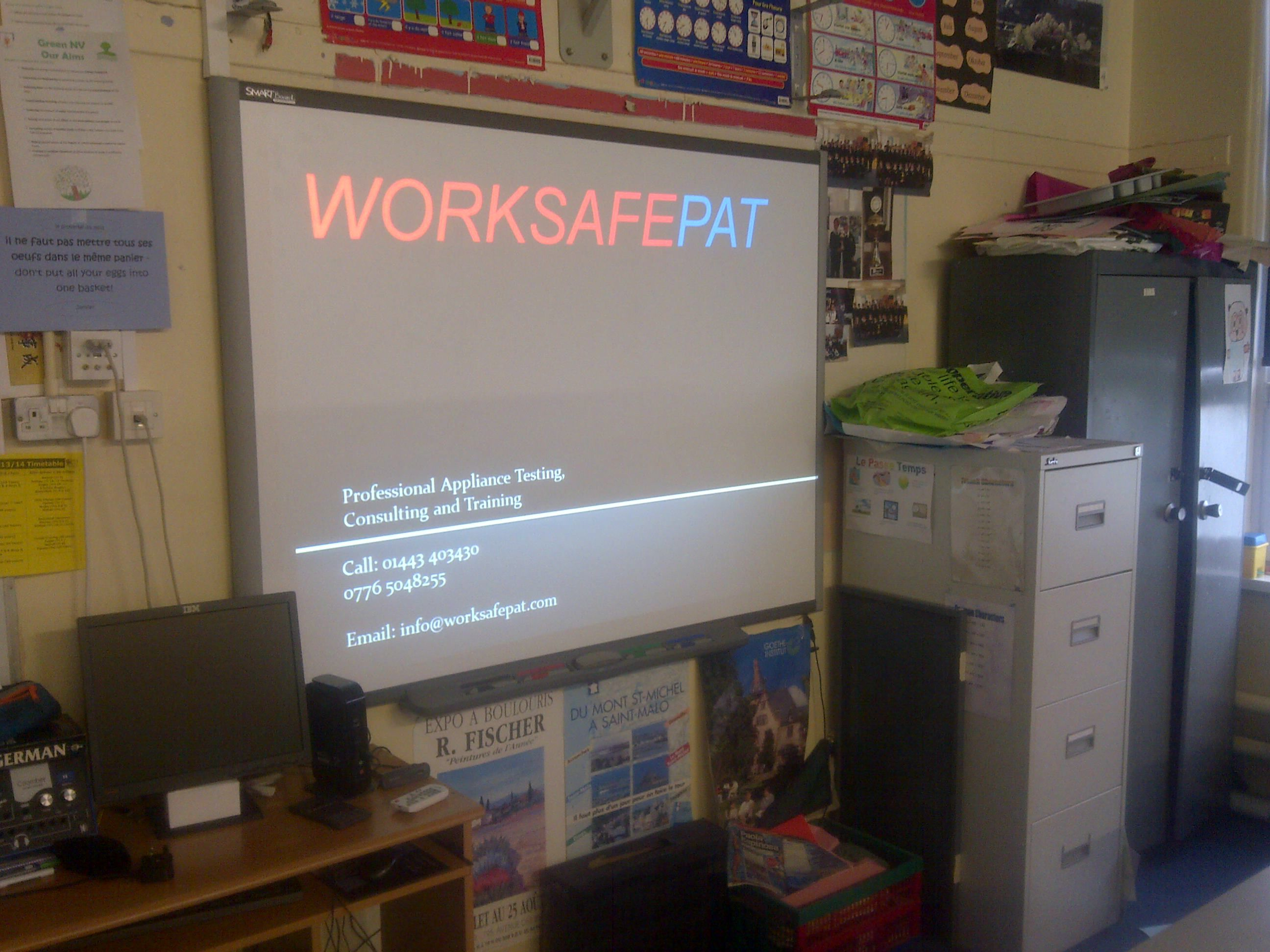 appliance risk management course being held at a comprehensive school being delivered by worksafepat ltd