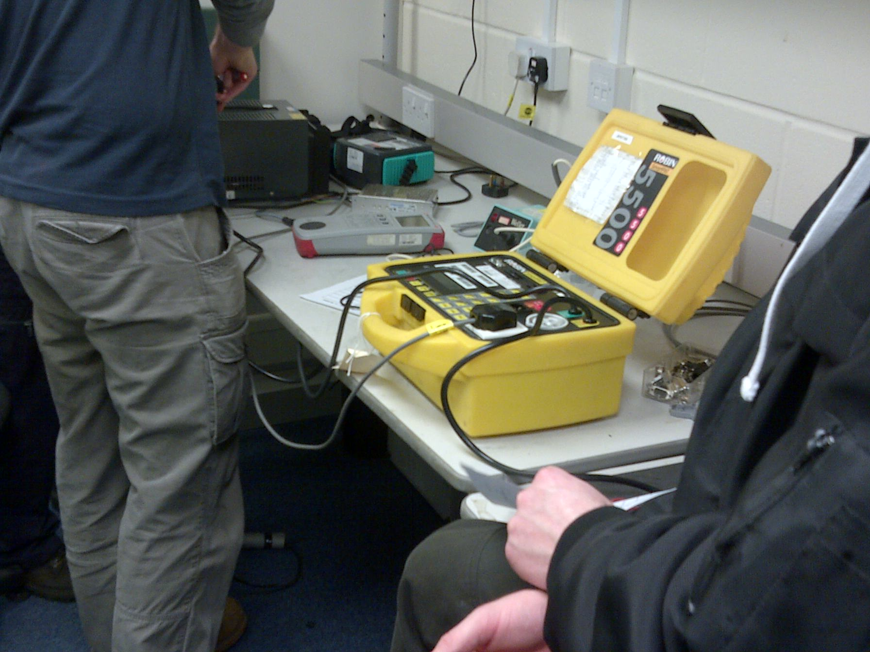 in-house pat testing course being held in workplace by worksafepat Ltd