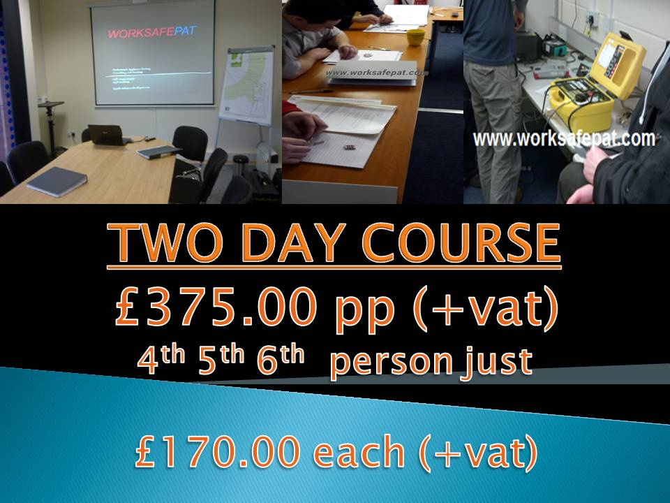 Worksafepat 2 day workplace pat testing Courses