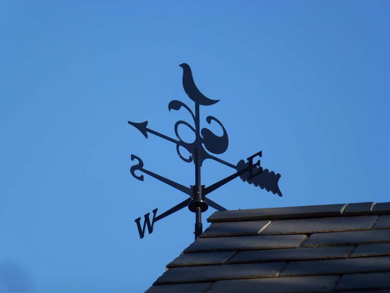 Our logo as the weathervane