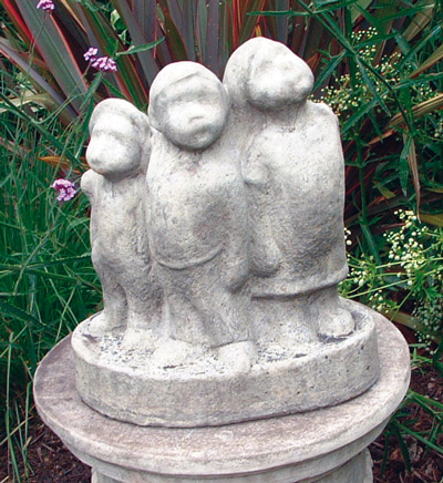 LITTLE SCAMPS STONE GARDEN STATUE