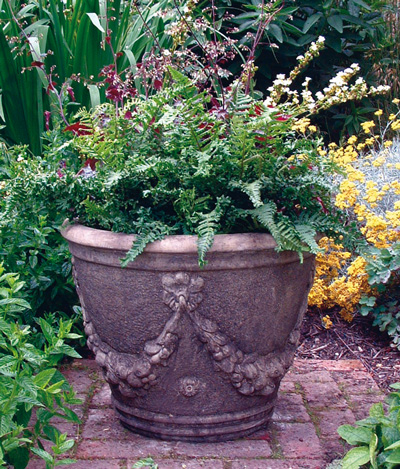 STONE GARDEN LARGE SWAGGED URN
