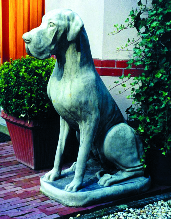 GARDEN STATUE STONE DOG GREAT DANE