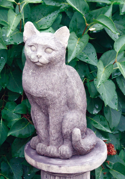 STONE GARDEN KITTY CAT