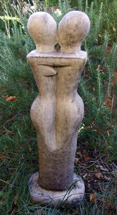 stone garden lovers statue contemporary