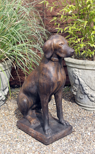 BURNT UMBER SECTION STONE GARDEN ORNAMENT
