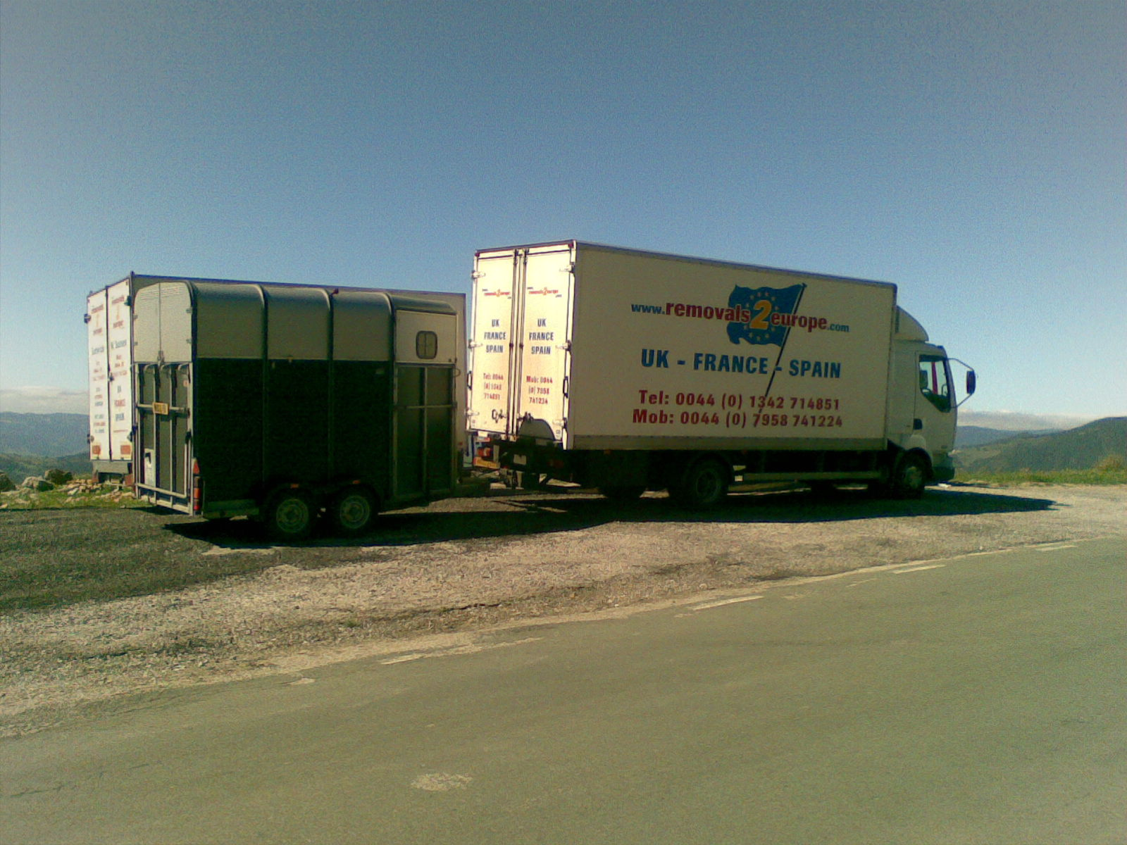 Delivering a horsebox to Portugal