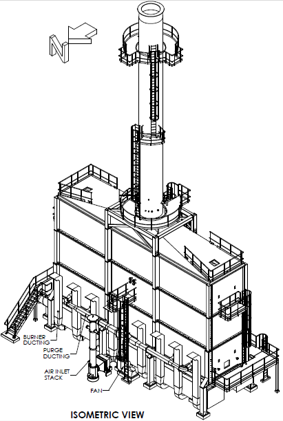 fired heater drawing, furnace drawing, cabin heater drawing, cabin furnace drawing