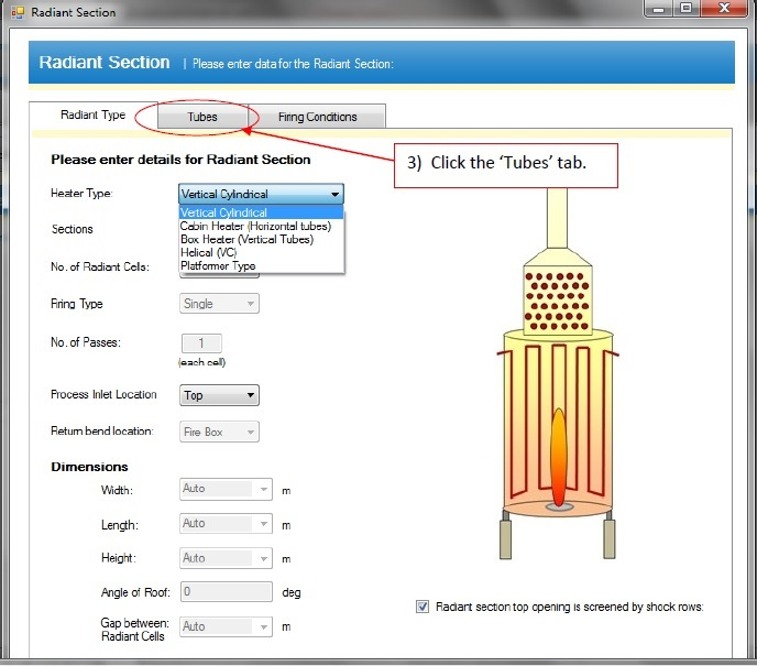 Convection section details fired heater software tutorial - Heater560