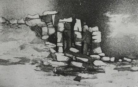 Blackstone Edge, etching by Kevin Brown