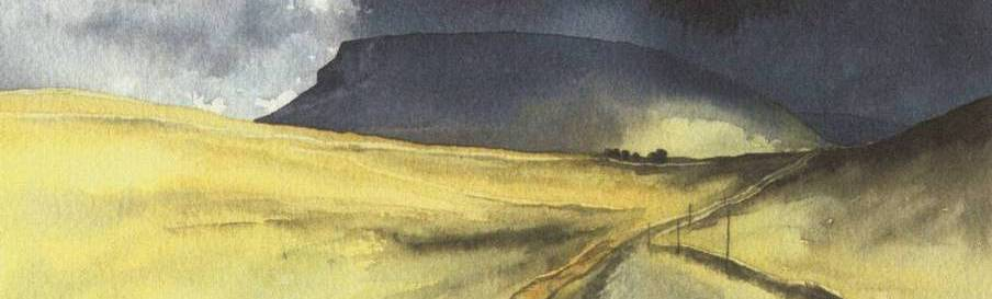 Pen-y-ghent, watercolour print by Kevin Brown