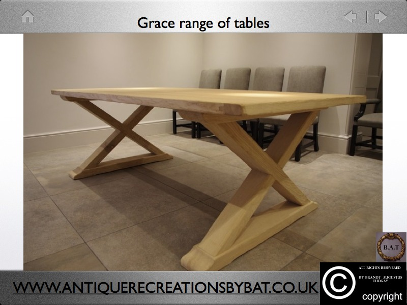 TABLES GRACE TABLES AND FRENCH OAK XFRAME DINING TABLES